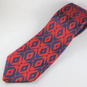 Christian Dior 80s Vintage Wide Tie Red & Navy EUC